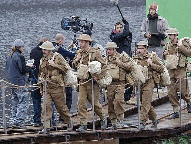 Natáčení filmu Tobruk.