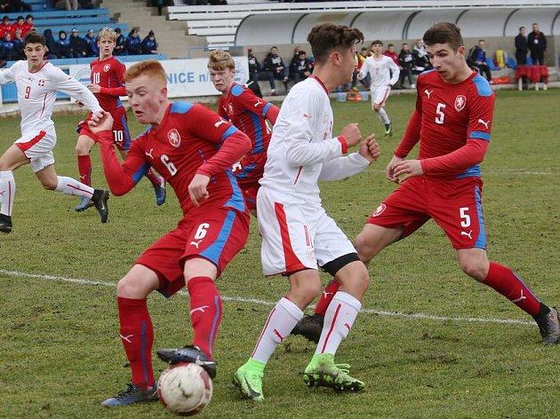 Přípravný fotbalový duel ČR U16 - Švýcarsko U16 1:1.