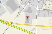 Místo, kde se v Lovosicích podnik nachází.