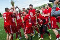 Brozany (v červeném) vyhrály divizní skupinu B.