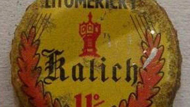 Zátka bývalého litoměřického piva Kalich.