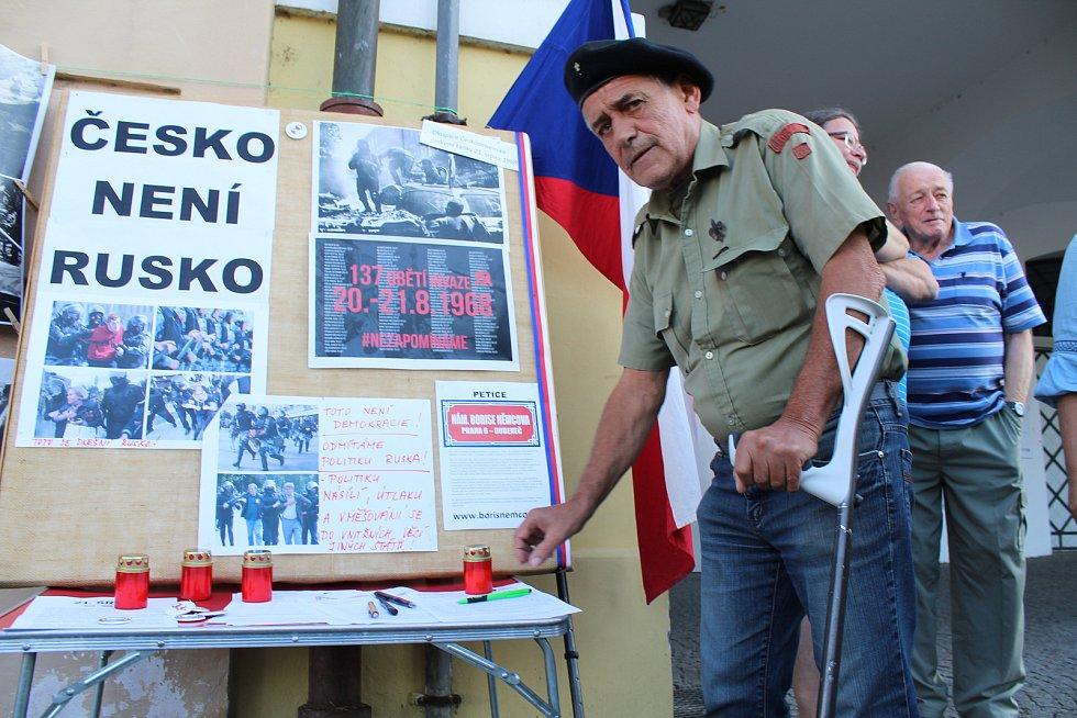 Mítink k připomínce 21. srpna 1968 v Litoměřicích.