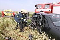 Tragická dopravní nehoda mezi obcemi Chodovlice a Klapý na Třebenicku.