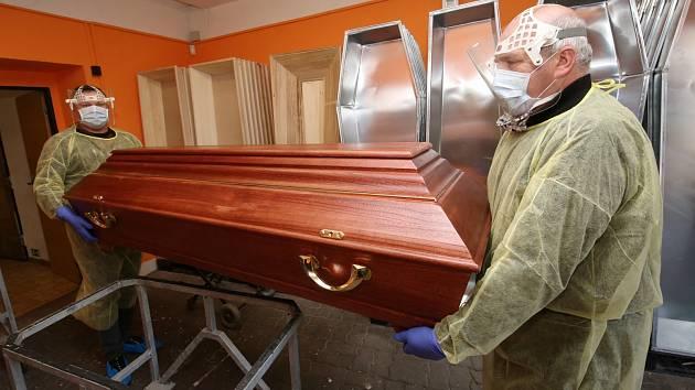 Zaměstnanci pohřební služby Auriga v Litoměřicích