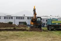 V Lovosicích pokračuje výstavba nového výjezdového stanoviště zdravotnické záchranné služby