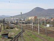 Vlakové nádraží Lovosice.