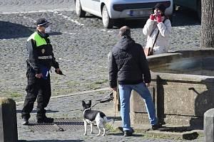 Litoměřičtí strážníci občas narazí na někoho, kdo buď nemá nasazenou roušku a nebo ji nenosí jak má.