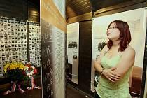 VÝSTAVA V DOBOVÝCH VAGONECH. Velmi sugestivně působí na návštěvníky pojetí expozice, kterou až do Bohušovic nad Ohří dovezli po železnici pracovníci slovenského Muzea SNP.