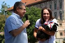 Sobotní přivítání úspěšné kanoistky a olympioničky Terezy Fišerové v její rodné Roudnici nad Labem.