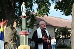 Svěcení rekonstruované Panny Marie v Libochovanech.