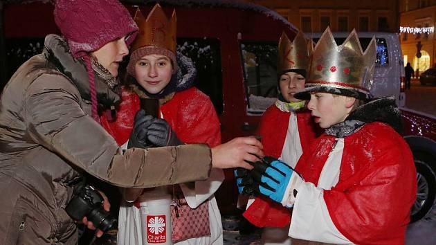 Slavnostní žehnání Třem králům v Litoměřicích.