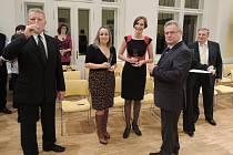 Slavnostní otevření zrekonstruované secesní radnice v Lovosicích za účasti vedení města i zástupců partnerského města Coswig.