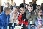 Slavnostní přivítání prvňáků na Masarykově základní škole v Litoměřicích.