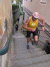 Běh do schodů v Úštěku.