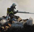 Na skládce ve Vrbičanech dvakrát hořelo v roce 2007