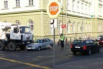 Dopravní nehoda v ulici Na Valech