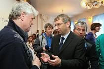 Ministr Drábek v Litoměřicích.