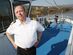 Karel Svoboda na lodi Porta Bohemica