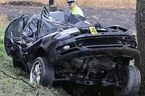 JEDNOU Z PRVNÍCH OBĚTÍ loňského roku byl teprve osmnáctiletý mladík z Radovesic. Na začátku dubna nezvládl řízení na silnici mezi obcemi Vrbičany a Siřejovice a narazil do stromu.