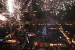 Rozsvěcení vánočního stromu na litoměřickém náměstí