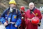 Do podzemí Richardu se poprvé v životě podíval litoměřický biskup Jan Baxant, společně s ústeckým radním Radkem Vonkou.