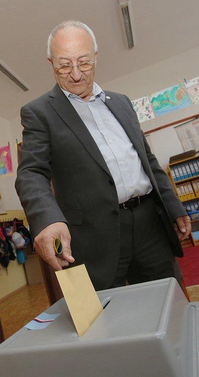 Ani dosavadního senátora za litoměřický obvod Hassana Meziana neminula ve volebním okrsku na ZŠ Boženy Němcové v Litoměřicích otázka, koho volil.