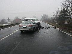 Nehoda, která se stala 17. února u Lovosic