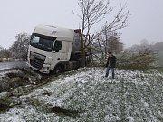 Nehoda kamionu v Podsedicích