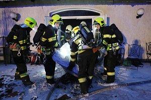 Nedělní požár domu na Litoměřicku