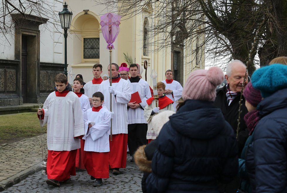 Mše svatá o Květné neděli v Litoměřicích