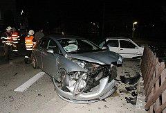 Nehoda v Lovosicích, čtvrtek 24. března večer.