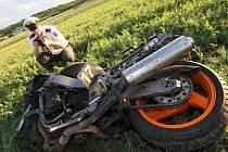 Nehoda motorkářů u Keblic