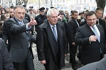 Miloš Zeman v Roudnici