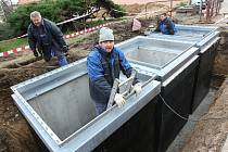 Podzemní kontejnery v Litoměřicích, ilustrační foto.