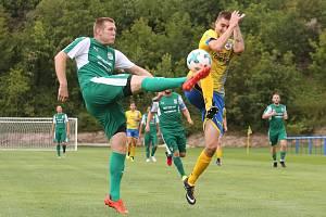 Fotbalový zápas mezi Litoměřickem a Modlany. Krajský přebor 2019/2020