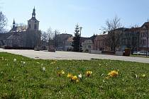 Václavské náměstí v Lovosicích. Archivní foto