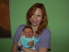 Michaele a Jiřímu Kozelkovým z Bohušovic n. O. se 9. února v 11.04 hodin narodil v Litoměřicích syn Tobiáš Kozelka (52 cm, 3,52 kg).