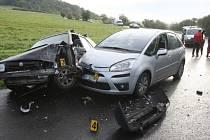 Pondělní nehoda u Miřejovic
