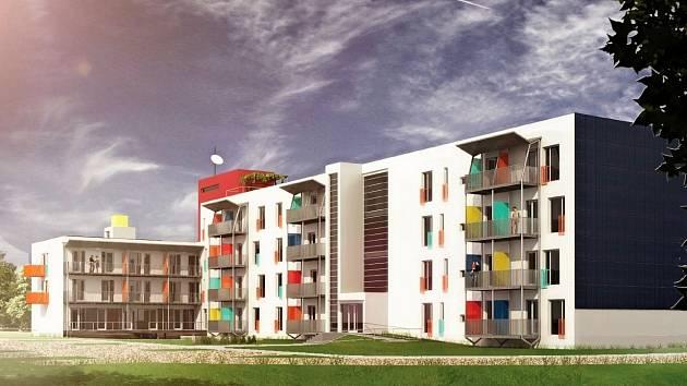 Vizualizace bytů, které měly vzniknout přestavbou bývalého vojenského objektu v Jiříkových kasárnách