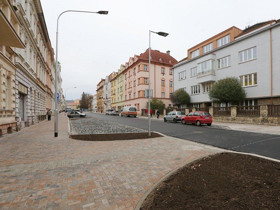 Palachova ulice má za sebou první část rekonstrukce. Nyní probíhá druhá etapa oprav.