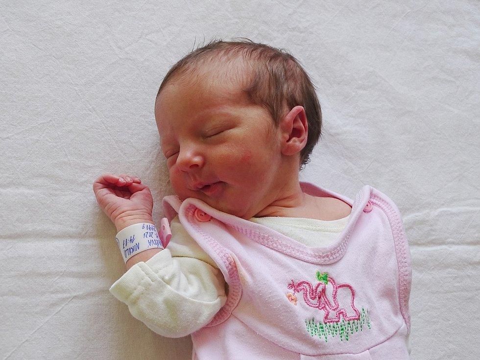 Nikola Kovářová se narodila Nikole Neumannové a Janovi Kovářovi z Teplé 12. září v 14.07 hodin v Litoměřicích (2,99 kg).