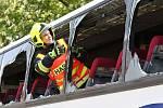 Nehoda autobusu s traktorem v Žabovřeskách