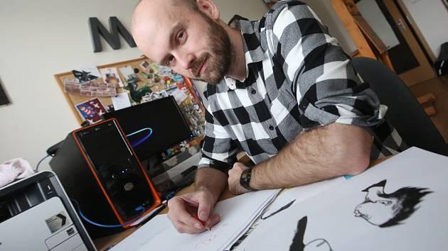 Grafik Marek Rubec na archivním snímku