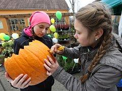 Děti ze škol a školek si mohou z dýní udělat na halloween smrtku.