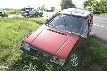 Vážná dopravní nehoda u Býčkovic - středa 7. července 2010 odpoledne.