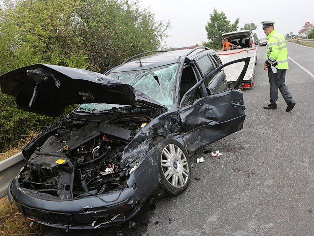 Dopravní nehoda u Hrdel, 17.8.2015