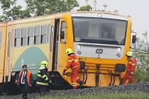 Srážka vlaku s člověkem u Lovosic