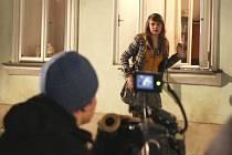 Natáčení klipu v Úštěku