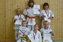USPĚLI. Úspěšná výprava mladých judistů Litokanu a DDM Rozmarýn získala osm medailí.