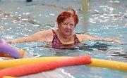 Senioři začali v litoměřickém bazénu s pomyslným zdoláváním víc než 30 kilometrů dlouhého Lamanšského průlivu